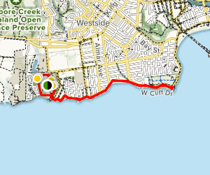 Natural Bridges to Lighthouse Field Loop Map