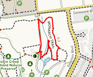 Monarch Butterfly Natural Preserve Loop Map