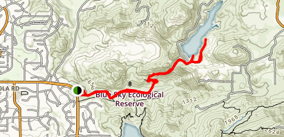 Blue Sky Reserve to Ramona Lake Trail Map