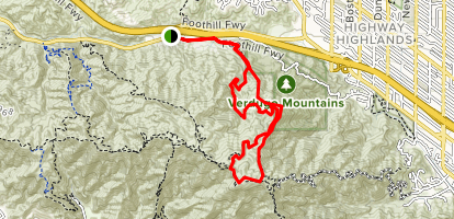 La On Us Map.La Tuna Canyon Loop Trail California Alltrails