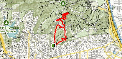 Ferndell to Mount Hollywood Summit Map