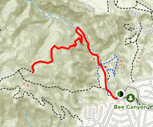 Bee Canyon Trail Map