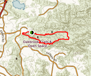 China Flat and Simi Peak Loop Map