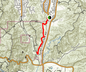 Las Virgenes Fireroad Trail Map