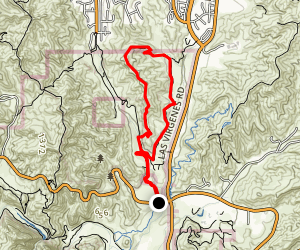 North Grasslands Trail to Talopop and Las Virgenes Loop Map