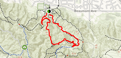 Mountain View and Canyon Road Loop Map