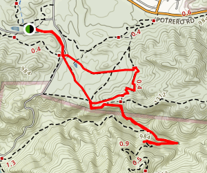 Satwiwa Loop and Old Boney Trail Map