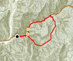 Left Fork Days Canyon Trail Map