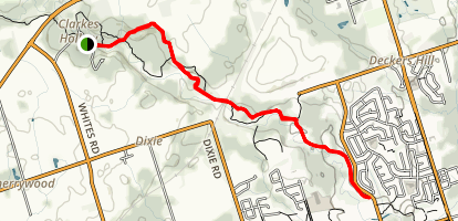 Seaton Hiking Trail South Map