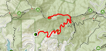Innsdale Drive and Mount Lee to the Hollywood Sign Map