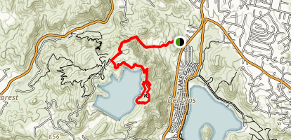 Olivehain Reservoir Loop Map