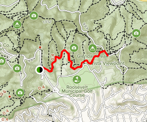 Riverside Trail to Vista Viewpoint Map