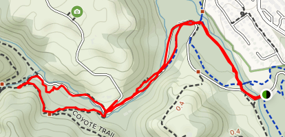 Lower Meadow Trail to Farm Bypass Loop Map