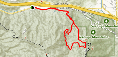 Hostetter Fire Road Loop Map