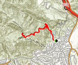 Mission Point via Bee Canyon Trail Map