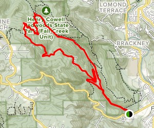 Lost Empire Trail to Fall Creek Trail Loop Map