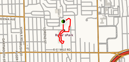 Rosie's Park Loop Map