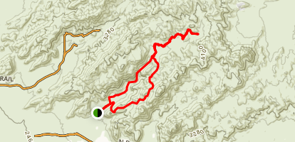 Wild Burro and Alamo Spring Loop Map