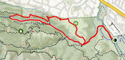 Rogue Valley, Chamise, and Mora Trail Loop Map