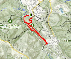 Toyon Trail, Old Spanish Trail and Coal Mine Ridge Loop Map