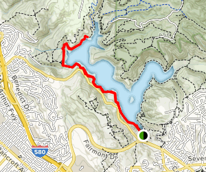 West Shore and Bass Cove Trail Map
