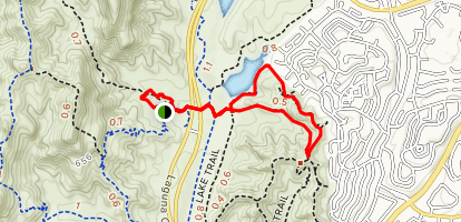 Marys and West Coast Canyon Trail to Edison Road Loop Map