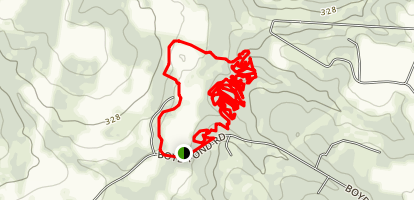 Boyd Pond Mountaing Biking Trails Map