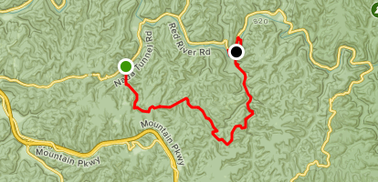 Martin's Fork to Sheltowee Suspension Bridge Map
