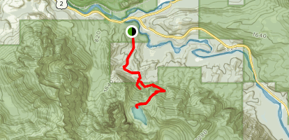 Lake Serene Trail and Bridal Veil Falls Map