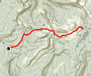 Upper Setting Trail to Big Elk Lake and Island Lake Map