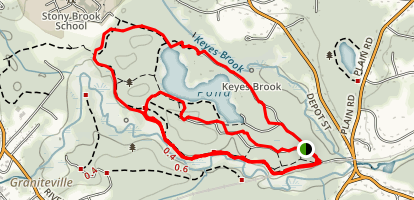 East Boston Camps and Gould Road Loop Trail Map