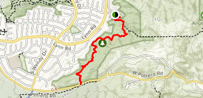 Los Robles Trail West Map