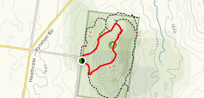 Black Hill Reserve Ridge Track Map