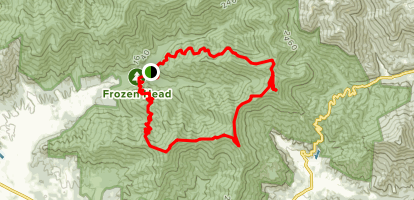 Old Mac Mountain to Chimney Tops Trail Map