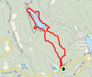 Blue Cockaponset Trail Map
