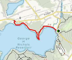 George H Nichols Reservoir via Mill Road Map
