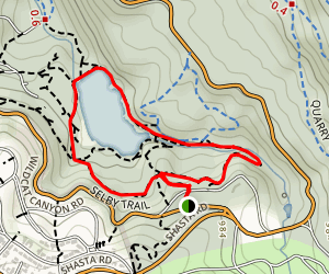 Selby Trail and Wildcat Gorge Loop to Lake Anza Map