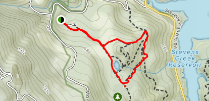 Zinfandel and Bear Meadow Loop Map