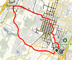 Winchester Green Circle Trail  Map