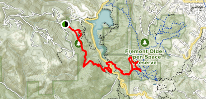 Zinfandel Trail to Lookout Trail and Vista Loop to Maisie's Peak Map