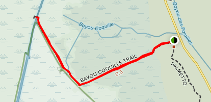 Bayou Coquille and Marsh Overlook Trails Map