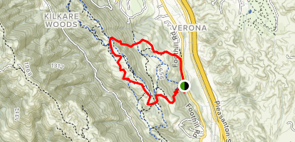 Lower Christmas Trail to Ridgeline Trail Loop Map