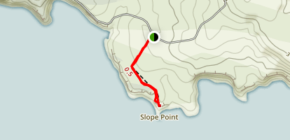 Slope Point Walk Map