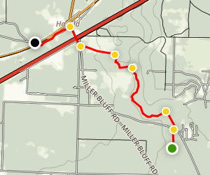 Yellow River Ravines Trail Map
