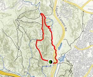 Little Sycamore Canyon, Serrano Ridge, and West Canyon Loop Map