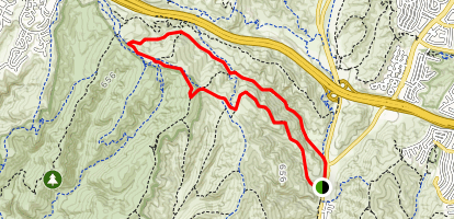 Laurel Canyon to Fenceline Trail to Willow Trail Loop Map