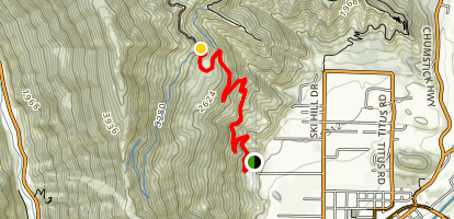 Tumwater Mountain Approach Map