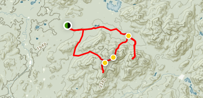 Seymour Mountain, Seward Mountain, Donaldson Mountain, Mount Emmons Loop Map