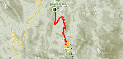 Devil's Head Lookout Trail to Fire Tower  Map