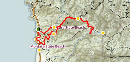 Montara Mountain North Peak Loop Trail Map